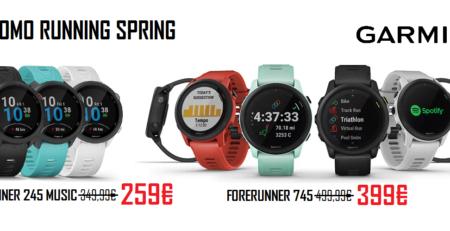 promo running spring garmin forerunner 245 e 745